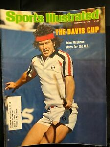 John McEnroe 1st Cover of Sports Illustrated 1978