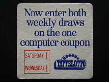 TATTSLOTTO NOW ENTER BOTH WEEKLY DRAWS LEEDER'S NEWSAGENCY 3541156 COASTER