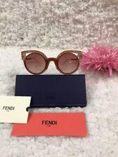 e4229c14e6b Fendi FF 0137 s NUG 4c Orange pink Glitters Women s Round Cat Eye Sunglasses