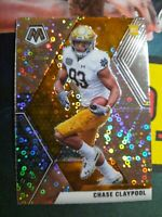 K81 2020 Mosaic Prizm No Huddle Silver Disco Photo Variation Chase Claypool RC