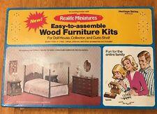 Vtg Real Life Miniatures Dollhouse Bedroom Furniture Kit Heritage Series #188