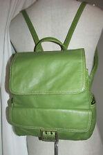 Wilsons Leather Green Leather BackPack/Sling Purse/Shoulder Bag/Crossbody