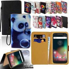 For Various Motorola SmartPhones - Leather Wallet Card Stand Flip Case Cover