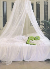 Single Entry White Mosquito Fly Canopy Net Netting For Single Double King Bed UK