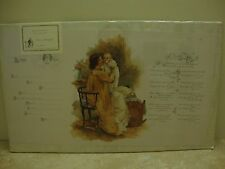 Old Print Factory~Turn of Century Reproduction~Baby's Birth~Stone Lithograph