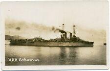 Real Photo Postcard – Battleship USS Arkansas (BB-33)  c1920