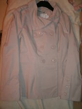 clockhouse - ladies mac style coat, cream size 8. bnwt