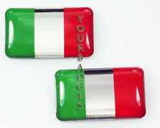 NEW 2 x Italian Flag Italy Italia Car badges Fiat Alfa stickers