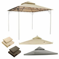 Waterproof Gazebo Top Canopy Replacement 2-Tier UV30 Patio Pavilion Yard Cover
