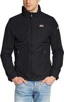 Napapijri Slim Shelter N0Y8LO Rain Windbreaker Jacket Black Size - XXXL (3XL)