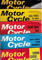 Various Issues of MOTOR CYCLE WEEKLY Magazine from May 1964 to July 1967