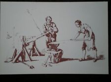 POSTCARD SOCIAL HISTORY RURAL INDUSTRY IN 19TH CENTURY - COPPERSMITHS HAMMERING