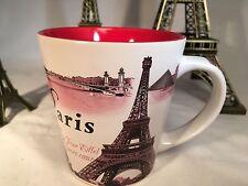 NEW French Black Pink Red Paris 11 oz  EIFFEL TOWER Coffee Cafe France Souvenir