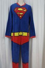 Superman Mens Footless One Piece Sleepwear Pj Sz S Red Blue Multi Sleep Pajama