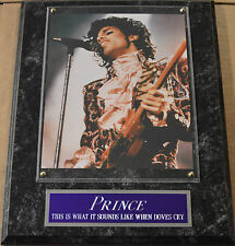 #1 Fan Prince Rogers Nelson Framed 8X10 Photo-12X15 Wall Plaque Display *Rip*