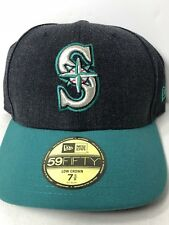 SEATTLE MARINERS 59FIFTY MLB Low Crown Cap New Era Fitted Hat Size 7 5/8