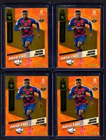 4X ANSU FATI TEENAGER LIMITED EDITION FC BARCELONA 2020-21 CARD MGK MEGACRACKS
