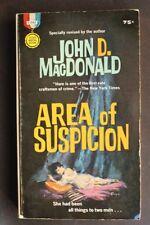 GM2146 AREA OF SUSPICION by JOHN D MacDONALD VG NOIR CLASSIC BARYE PHILIPS COVER