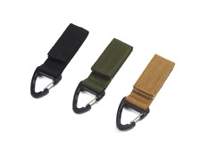 Tactical Molle Hanging Belt Key Hook Outdoor Buckle Strap Carabiner Clip Tool