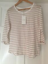 Jigsaw Stripe 3/4 Sleeve Cotton Top Sorry have Since lost the ticket shown