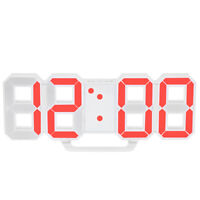 Multifunctional Large LED Digital Wall Clock 12H/24H Time Display With C3F2