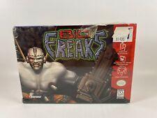 BIO F.R.E.A.K.S. (BIO FREAKS) Nintendo 64 (Ripped Seal) Complete Open Box FS
