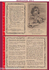 2289 SANTINO HOLY CARD ANNO 1940 COMUNIONE PASQUALE PIERIS TRIESTE