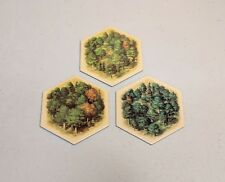 Settlers of Catan hex tiles - 5th edition - Wood/Forest - set of 3