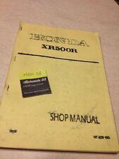 Honda XR500R XR 500 R Werkstatthandbuch Workshop Bedienungsanleitung