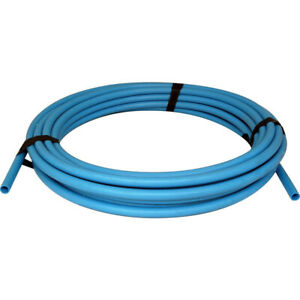 25mm O/D MDPE Plastic Compression WRAS Water Pipe Blue Alkathene By the Metre