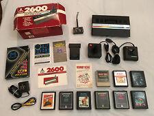 ATARI 1987 Release Compact Junior Console system Original Box Lot + 10 Games VGC