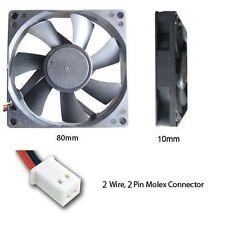 Evercool 80mm 8cm 80 x 80 x 10mm 2 pin 12v Long life Cooling Fan (L) EC8010L12