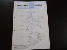 Original Service Manual  Telefunken Studio center 7004 hifi HCC6B-H Dual 504