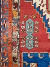 "C 1930 Antique Persian Serapi Heriz Hand Made Exquisite Rug 3' 8"" x 11' 6"""