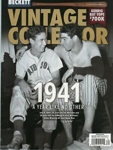 NEW BECKETT BB FB BSK HKY VINTAGE PRICE GUIDE JUNE/JULY 2021, WILLIAMS DIMAGGIO