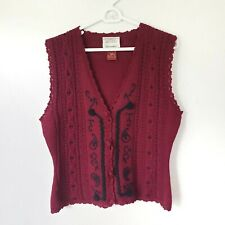 Vintage Susan Bristol Wool Sweater Vest Size Small
