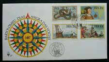 South Africa Maritime 1982 Dragon Ship Boat Map (stamp FDC)