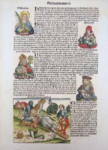 SCHEDEL KREUZIGUNG WILHELM ENGLAND NORWICH GRATIAN COMESTOR LOMBARDUS 1493