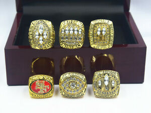 6PCS 1981 1984 1988 1989 1994 2012 San Francisco 49ers World Championship Ring /