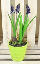 Muscari Artificiale vasi piante, di uve HYACINTH Primavera Fiori per Casa e Ufficio