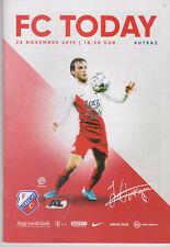 Programme / Programma FC Utrecht v AZ Alkmaar 23-11-2019
