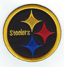 """PITTSBURGH STEELERS 3.5"""" Black Iron-on NFL Football Jersey PATCH! Steeler Nation"""