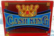 CASH KING Slot Machine Casino Topper Insert, Glass in good Shape