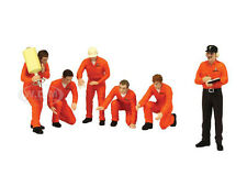 "F1 PIT CREW FIGURINES TEAM ""JAGERMEISTER"" RACING SET OF 6PC 1/18 BY TSM 11AC01"