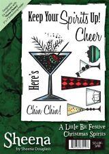 Crafters Companion Sheena Douglass A6 Xmas Stamp - Christmas Spirits