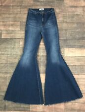 Free People Just Float On Flare Jeans in Jericho Blue Size 25
