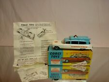 CORGI TOYS 437 SUPERIOR AMBULANCE CADILLAC CHASSIS - 1:43 - EXCELLENT IN BOX