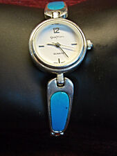 Sterling Silver Watch & Band With Turquoise Inserts - Wear That Southwest Flair