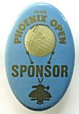 1966 PHOENIX OPEN Golf Tournament SPONSOR oval golfing pinback button ^