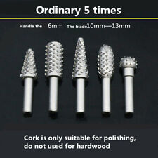 5pcs Woodworking Electric Rotary File Grinding Head Roll Carving Knife Bits Hot